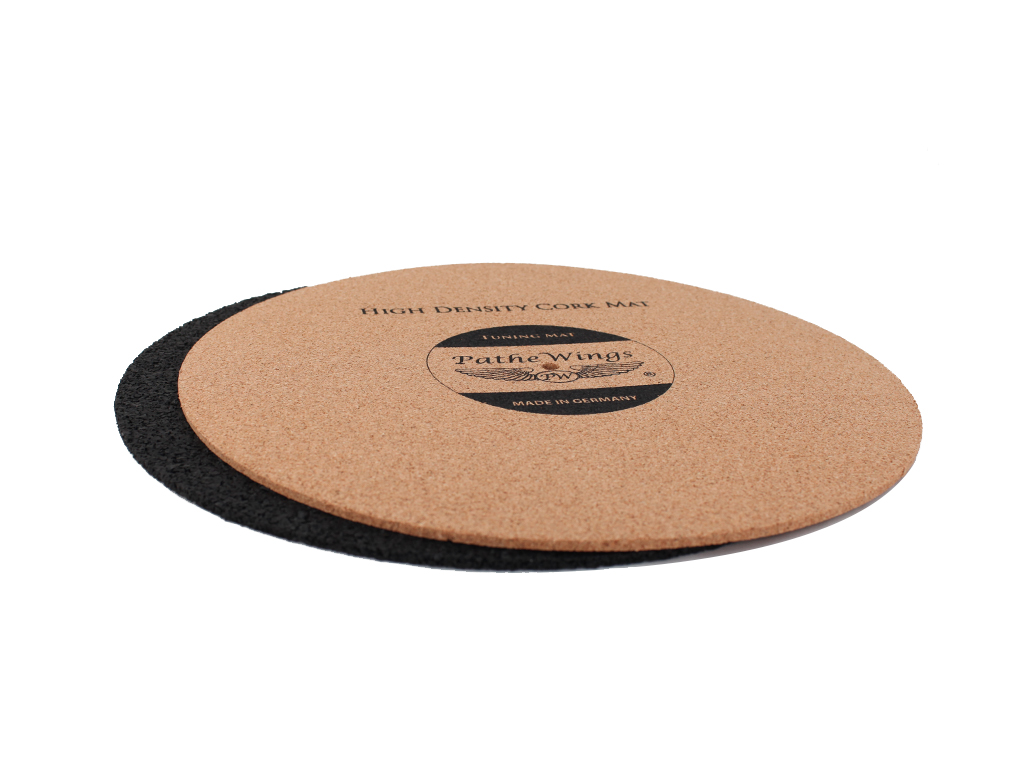 Cork Turntable Record Mat Set 4 4 Mm Black Vinyl Lp